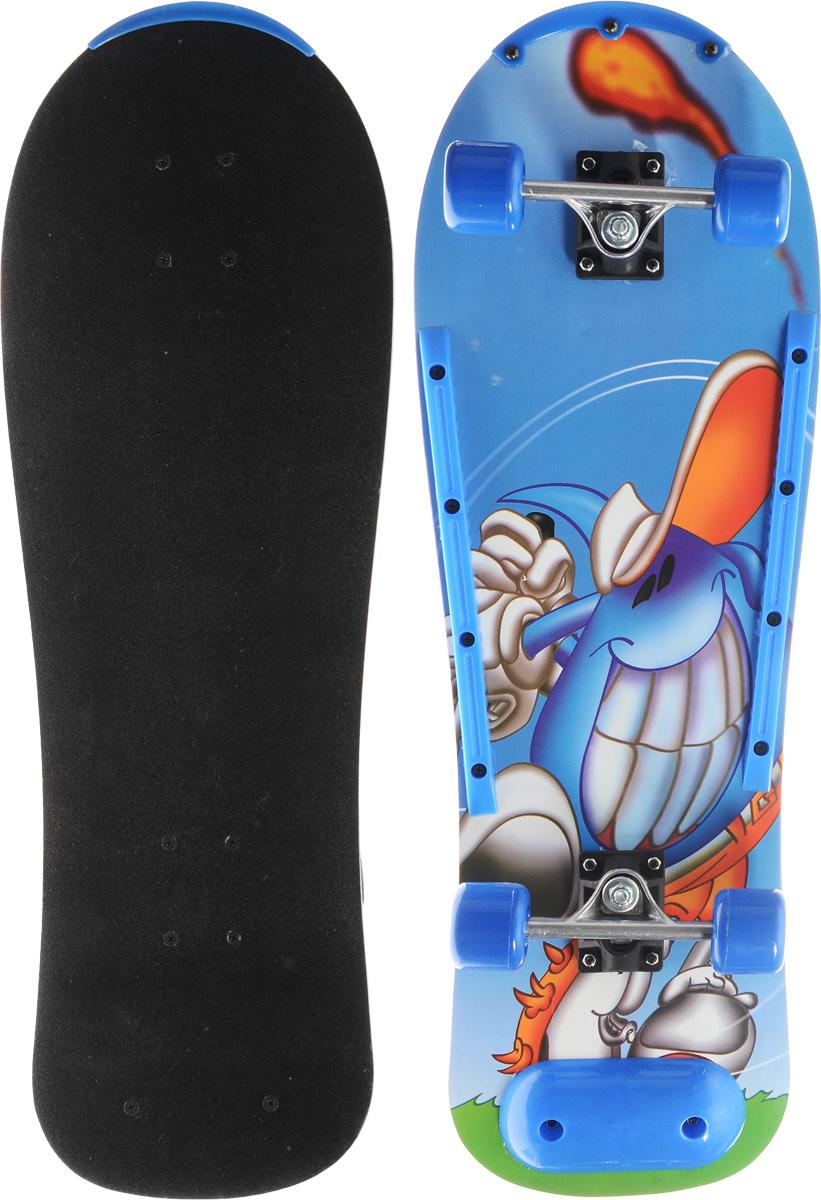 Скейтборд Action, дека 76 см х 25. SHЕ-55SHЕ-55Скейтборд Action - отличный выбор для начинающих и опытных скейтбордистов, а также для людей, любящих активно проводить время. Скейтборд изготовлен из натурального клена, имеет прочную алюминиевую подвеску. Дека покрыта слоем, который позволяет ногам не соскальзывать с доски и выполнять различные трюки.В последнее время экстремальные виды спорта, такие как катание на скейтборде, становятся очень популярными. Скейтбординг - это зрелищный и экстремальный вид спорта, представляющий собой катание на роликовой доске с преодолением препятствий и выполнением различных трюков.