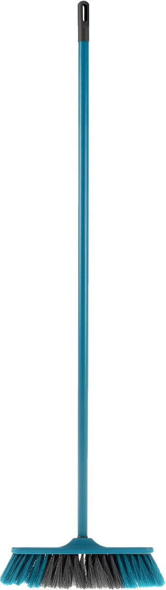 Щетка York Frontiera, с рукояткой, цвет: бирюзовый, 110 см5102Щетка York Frontiera с рукояткой выполнена из пластика и предназначена для уборки сухого мусора. Рукоятка оснащена специальным отверстием, благодаря которому щетку можно повесить на крючок. Упругий эластичный ворс щетки позволяет собрать мусор из самых труднодоступных мест.Размер щетки: 27 см х 5 см.Длина ворса: 6,5 см.Длина рукоятки: 110 см.