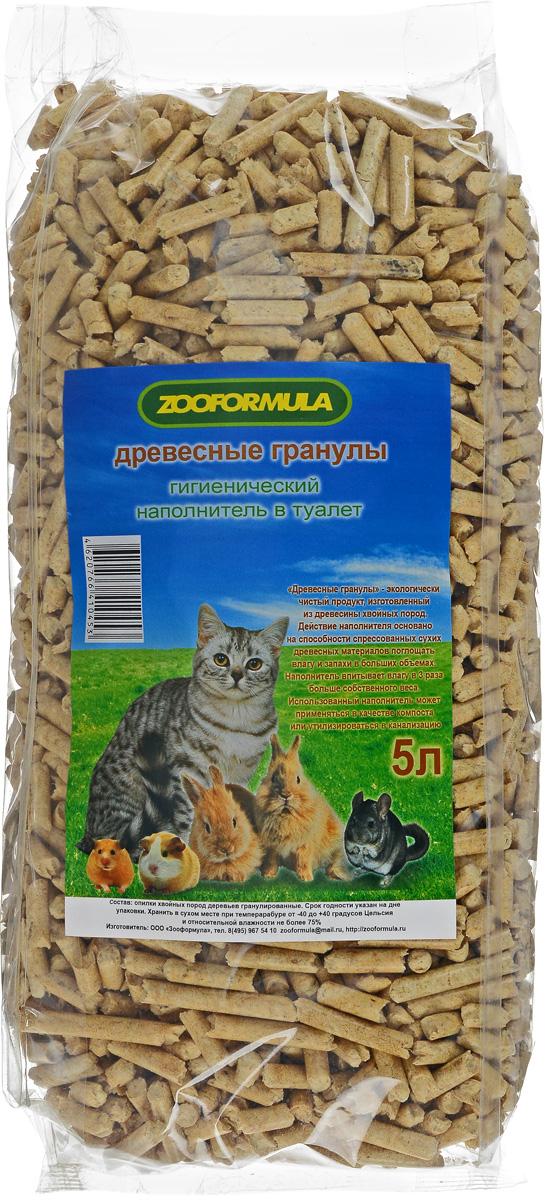 Наполнитель для кошачьих туалетов Zooformula, древесный, 5 л наполнитель зооник древесный 5л 06234