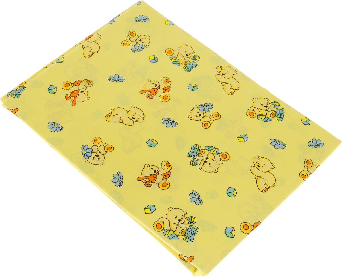 Простыня детская Primavelle Мишки, 120 х 180 см11461210-10_желтыйМягкая простыня Primavelle Мишки идеально подойдет для кроватки вашего малыша и обеспечит ему здоровый сон. Она изготовлена из натурального 100% хлопка, дарящего малышу непревзойденную мягкость.Подарите вашему малышу комфорт и удобство!Размер простыни: 120 х 180 см.