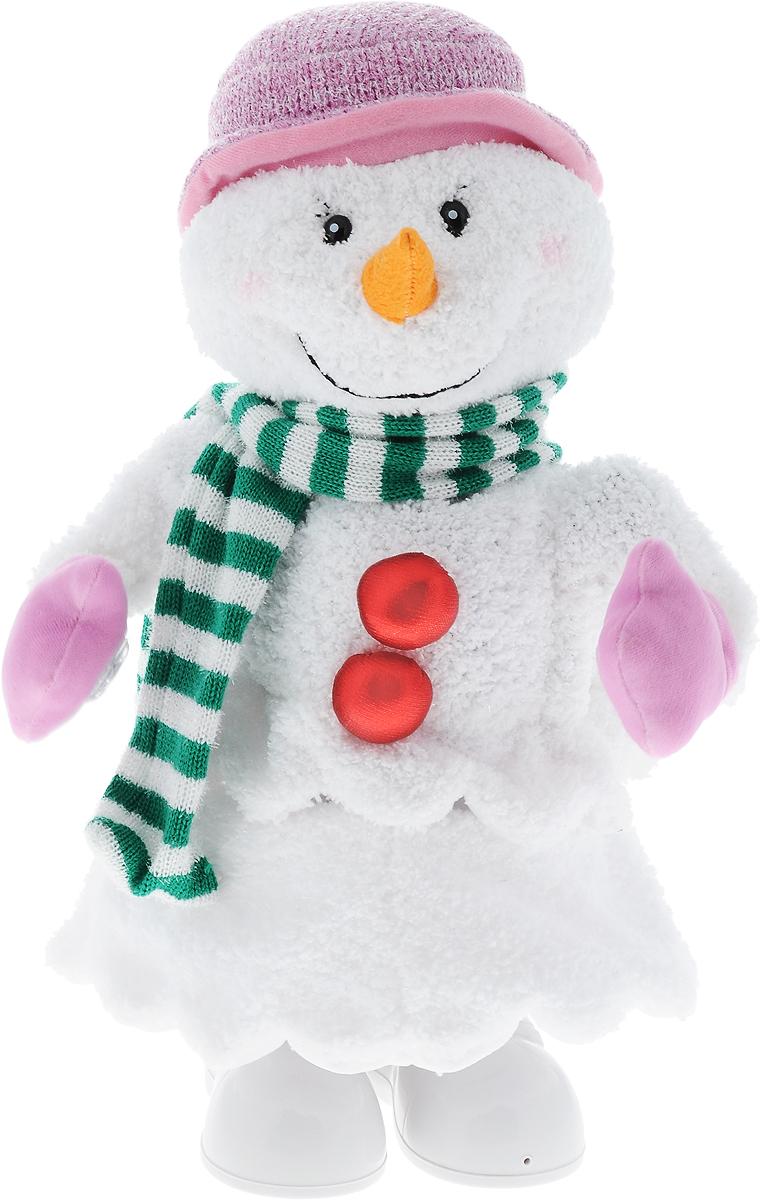 Игрушка музыкальная Mister Christmas Снеговик, высота 40 смSM-62018Музыкальная игрушка Mister Christmas Снеговик станет красивым украшением интерьера в преддверии Нового года. Игрушка представляет собой снеговика. Он одет в шарфик и варежки, на голове - шапка.Игрушка музыкальная, с задней стороны расположен механизм, при его включении издается приятная мелодия, и снеговик начинает двигаться и светиться. Такая игрушка станет не только украшением интерьера, но и приятным подарком, который придется по душе каждому.Механизм работает от 4 батареек типа С и 4 батареек типа АА (входят в комплект).