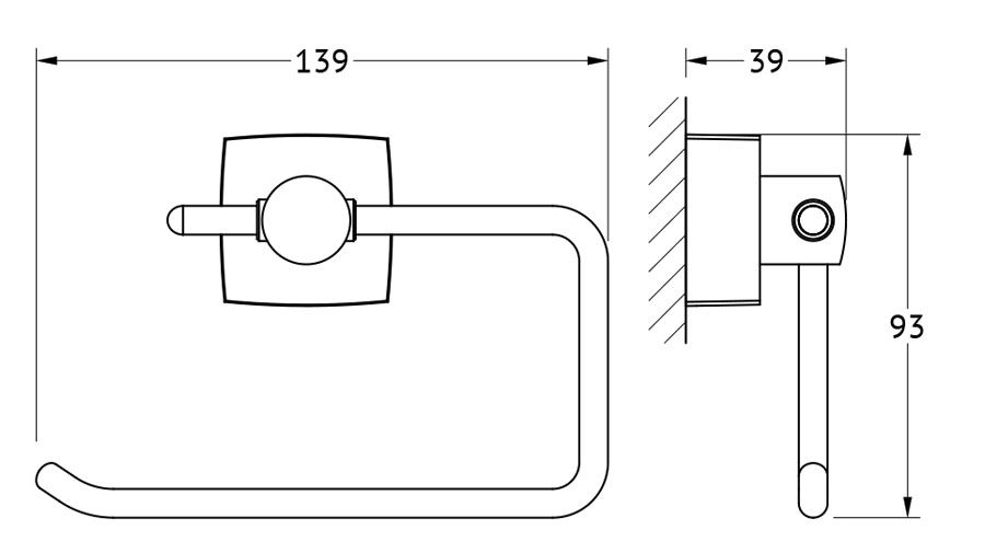 """FBS """"Esperado"""" - удобная в пользовании и простая в установке модель держателя для туалетной бумаги. Изделие выполнено из легкой и прочной латуни с хромовым антикоррозийным покрытием. Держатель крепится на стену, что позволяет расположить его в максимально удобной точке туалетной комнаты."""