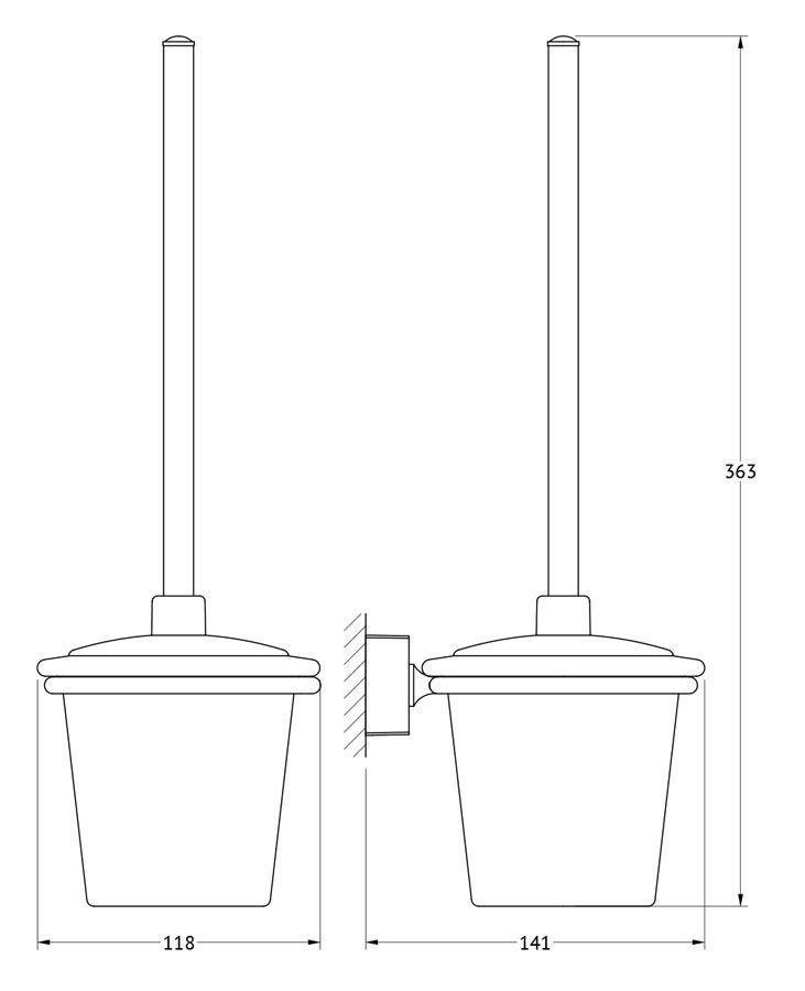 """Гарнитур для туалета FBS """"Esperado"""" выполнен из  высококачественной латуни с  хромированным покрытием. Гарнитур состоит из настенного  держателя и ершика с крышкой.  Высококачественные материалы, а так же прочные  крепления позволят наслаждаться покупкой долгие годы.  Такой гарнитур приятно дополнит интерьер вашей  туалетной комнаты."""