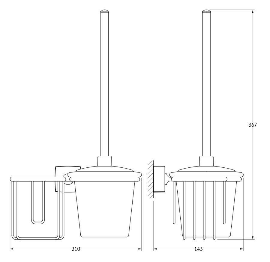 Популярны варианты комбинирования ершей с держателем освежителя воздуха. В зависимости от того, справа или слева он будет расположен,  можно выбрать для удобства использования как право, так и левосторонний вариант исполнения аксессуара. Комбинирование позволяет  сэкономить место в туалетной комнате, уменьшить финансовые затраты и минимизировать сверление отверстий под крепеж.  Колба настенного ерша изготовлена из прочного толстого стекла, идентичного стеклу остальных предметов. Матированная химическим способом  поверхность стекла имеет привлекательный внешний вид и скрывает подтеки внутри колб. Уход за ними становится проще.  Ручка ерша изготовлена из металла. Пластиковая хромированная крышка позволяет избежать повреждений сантехники и является  функциональной, закрывая щетку. При необходимости она фиксируется на любой высоте ручки для удобства уборки сантехники.  Щетка ерша имеет черный цвет, который сохраняется в процессе всего срока эксплуатации, в отличие от щеток белого цвета, которые после  непродолжительного использования желтеют. В ассортименте имеются запасные щетки, приобретаемы отдельно.  Держатель освежителя позволяет удобно разместить в нем освежитель воздуха и другие гигиенические предметы подходящего диаметра в  помещении туалета. Конструкция очень легкая, т.к. изготовлена из спаянных латунных прутьев.