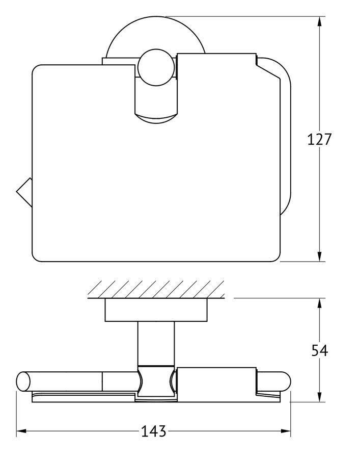 """Держатель для туалетной бумаги Artwelle """"Harmonie"""", изготовленный из латуни имеет эстетичный вид и дополнительные функциональные возможности. Подвижная зеркально отполированная крышка скрывает рулон туалетной бумаги и, кроме визуальной эстетики, защищает бумагу от возможного попадания влаги и пыли. Крышка позволяет более удобно использовать туалетную бумагу при ее отделении от рулона, прижимая его сверху. Толщина материала крышки не дает ей прогибаться в процессе эксплуатации. На внутренней поверхности крышки допустимы технологические окалины и замутнения, не являющиеся производственным браком. На рейке держателя туалетной бумаги предусмотрен изгиб, не позволяющий рулону соскальзывать.  Торговая марка Artwelle принадлежит компании Santech Allianz Gmbh. Универсальный дизайн аксессуаров позволяет дополнить практически любой интерьер, а широкий ассортимент предоставляет свободу выбора. Надежность конструкции, профессиональное крепление и прочность покрытия позволяют использовать изделия не только в домашних условиях, но также и в общественных местах, включая отели. В производстве коллекций используются материалы высокого качества, что обеспечивает долговечность изделий."""