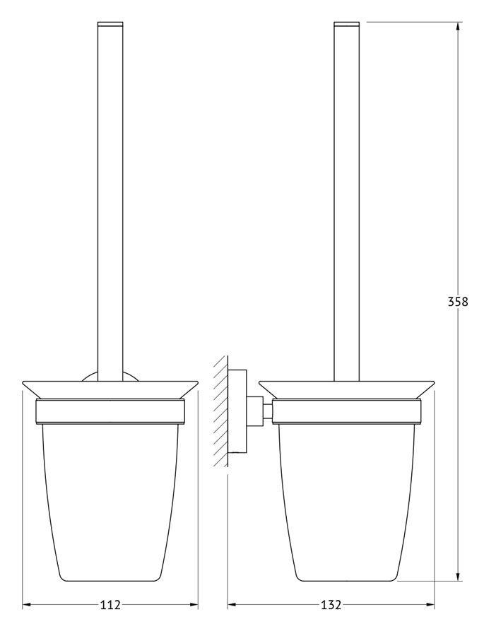 """Ершик для  унитаза Artwelle """"Harmonie"""" имеет ручку из латуни и и белую щетку с жестким густым ворсом. Подставка выполнена из матового стекла. Ершик крепится к стене  при помощи держателя.  Высококачественные материалы позволят наслаждаться покупкой долгие годы. Изделие  приятно дополнит интерьер вашей туалетной комнаты."""