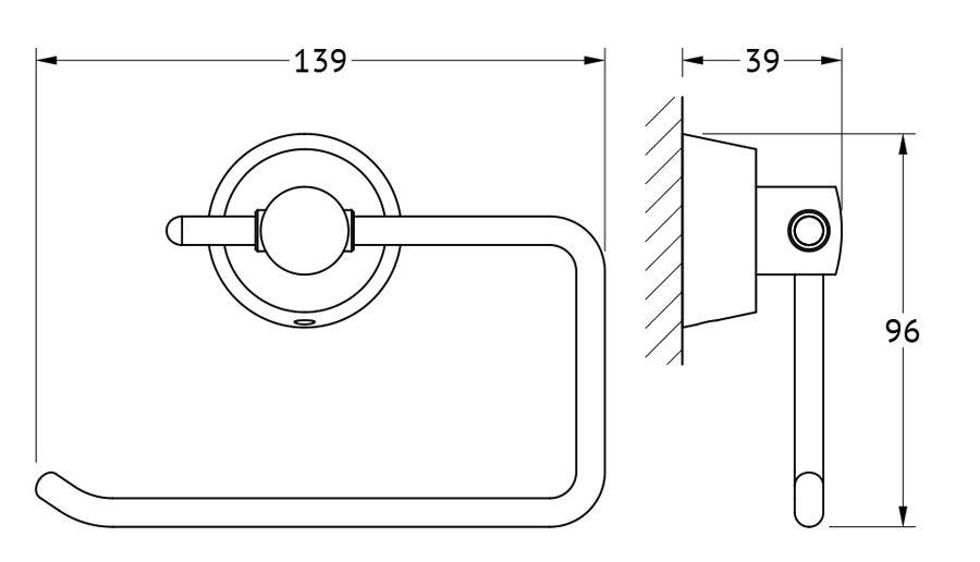 """Держатель для туалетной бумаги FBS """"Vizovice"""" изготовлен из высококачественной хромированной латуни.  Классический дизайн подойдет для любого интерьера туалетной комнаты.  Размер держателя:   14 х 9,6 х 3,9 см.            Аксессуары торговой марки FBS производятся на заводе ELLUX Gluck s.r.o., имеющем 20-летний опыт работы. Предприятие расположено в Злинском крае, исторически знаменитом своим промышленным потенциалом. Компоненты из всемирно известного богемского хрусталя выгодно дополняют серии аксессуаров. Широкий ассортимент, разнообразие форм, высочайшее качество исполнения и техническое совершенство продукции отвечают самым высоким требованиям. Продукция FBS представлена на российском рынке уже более 10 лет и за это время успела завоевать заслуженную популярность у покупателей, отдающих предпочтение дорогой и качественной продукции."""