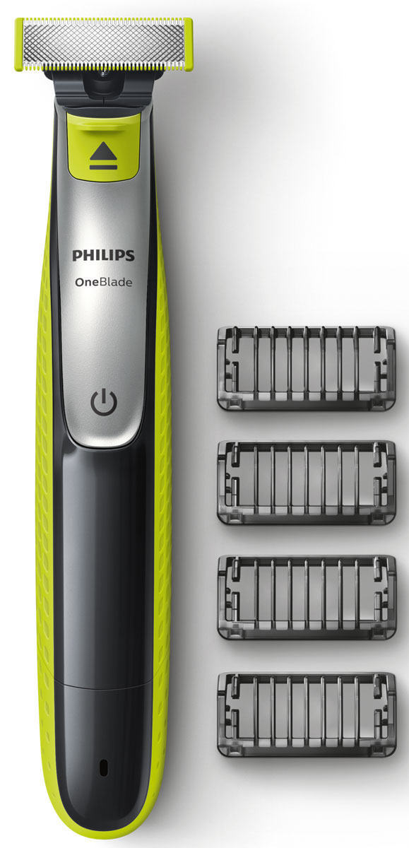 Philips OneBlade QP2530/20 с 4 насадками-гребнями - Триммеры