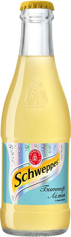 Schweppes Биттер Лемон напиток сильногазированный, 0,25 л schweppes bitter lemon напиток газированный 0 2 л