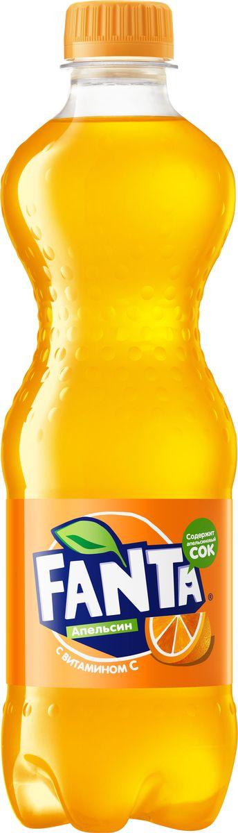 Fanta Апельсин напиток сильногазированный, 0,5 л fanta груша напиток сильногазированный 1 5 л