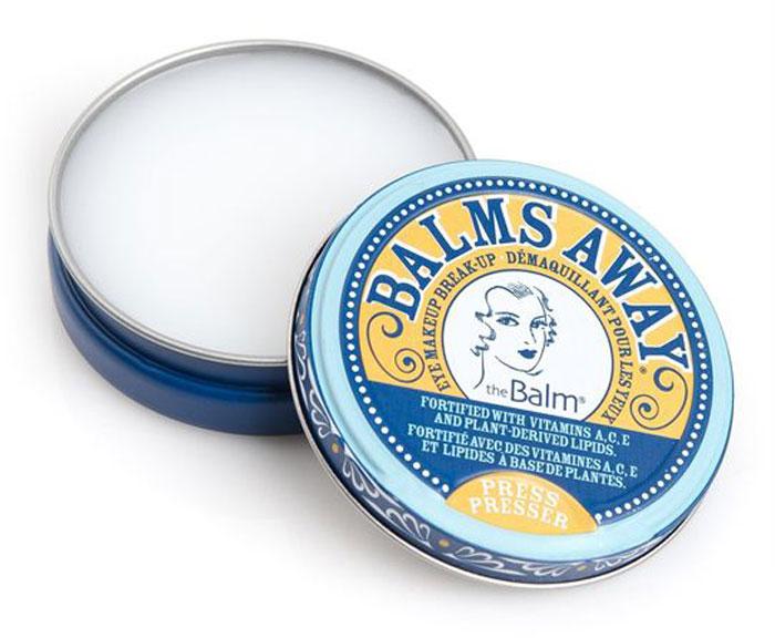 theBalm Balms Away Средство для снятия стойкого макияжа, 30 г800085Твердое средство для снятия макияжа глаз с витаминами А, С, Е, смесью стеролов и липидов растительного происхождения, быстро и эффективно удаляет макияж. Обладает мягкой текстурой для самой чувствительной кожи. Витамины и липиды работают для увлажнения и восстановления эластичности кожи вокруг области глаз, сохраняя ее гладкой. Не содержит парабенов, сульфатов, синтетических отдушек, красителей и фталатов. Удобная упаковка, помещающаяся в ладонь, подойдет для любой сумочки и послужит незаменимым средством в путешествии.