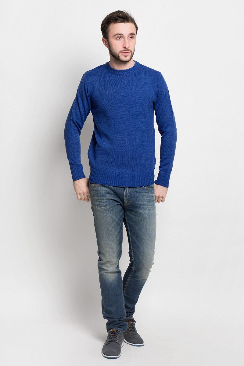 Джемпер мужской D&H, цвет: синий. А50008. Размер XL (54)А50008Мужской джемпер D&H с круглым вырезом горловины и длинными рукавами изготовлен из высококачественной акриловой пряжи.Горловина, низ и манжеты джемпера связаны резинкой.