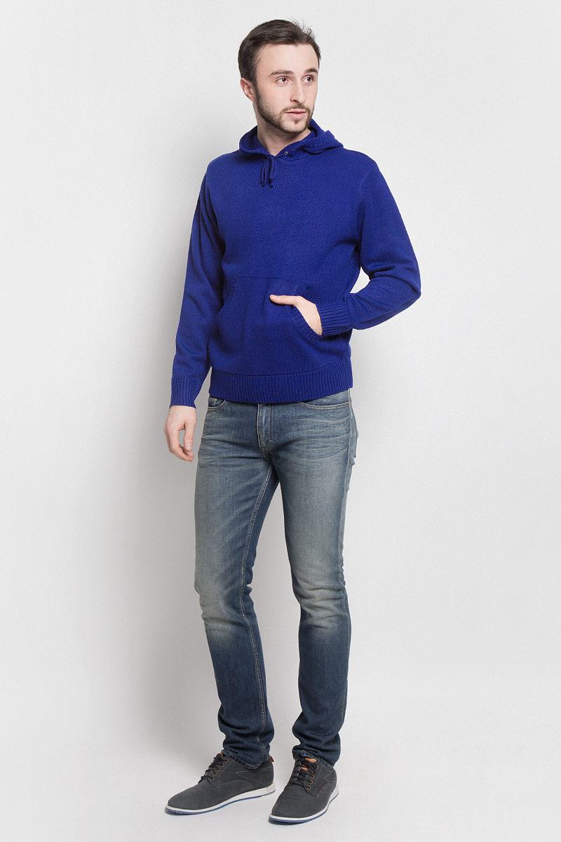 Джемпер мужской River Trader, цвет: синий. А50108. Размер М (50) туфли river island river island ri004awrri05