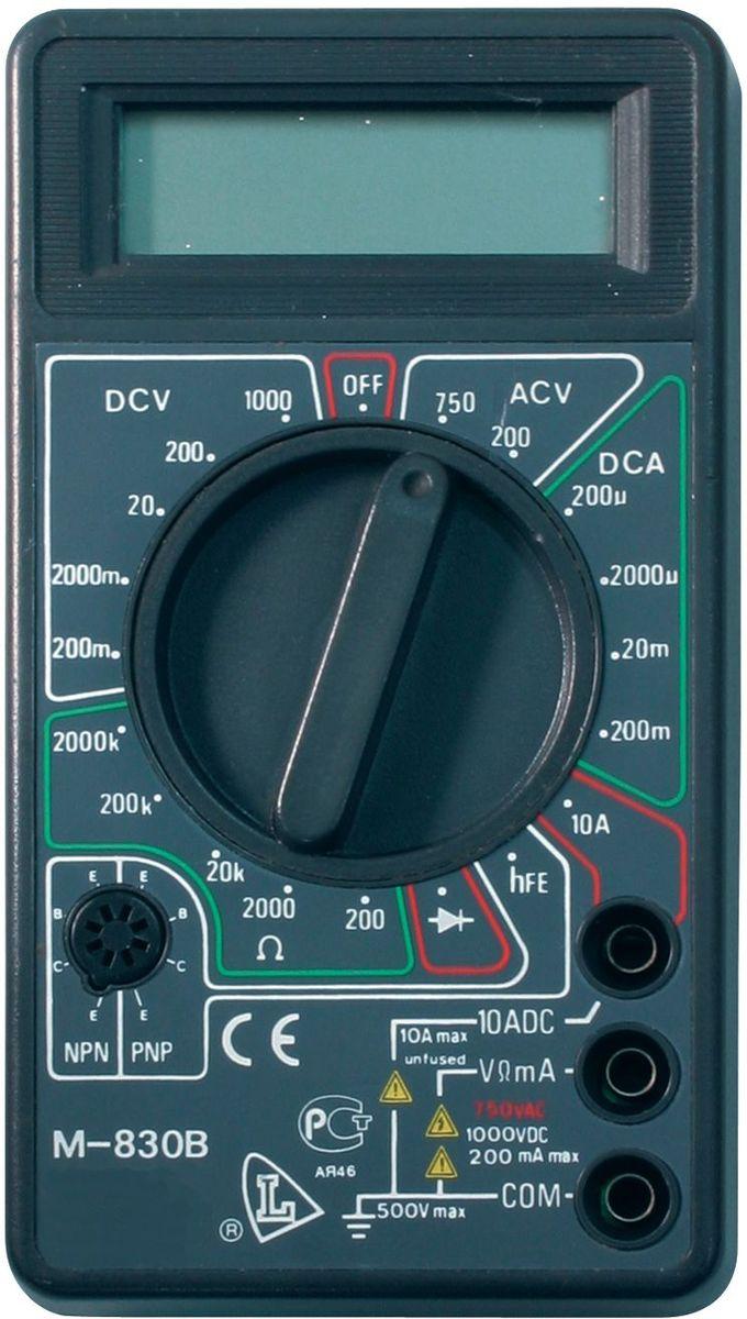 Мультиметр многофункциональный Ресанта DT 830B61/10/218Многофункциональный, компактный цифровой мультиметр Ресанта DT 830B - необходимый инструмент в сумке любого электромонтера или радиолюбителя.Безопасность устройства реализована благодаря защите всех пределов от перегрузок и автоиндикации перегрузок. Тестер имеет небольшие размеры 126х70х28 мм и легкий вес - 137 г, благодаря чему вполне может уместиться в кармане.Ресанта DT 830B - это прибор, объединивший в себе функции амперметра, вольтметра и омметра. Основное предназначение устройства - получение точных данных измерений силы постоянного тока, напряжения (постоянного и переменного), сопротивления. Также при помощи этого тестера проводят проверку диодов, транзисторов. Данные отображаются на 3.5 разрядном LCD-дисплее.Высокая чувствительность (100 мкВ) и небольшая погрешность измерений (1%) обеспечили этой модели популярность и широкий спрос.