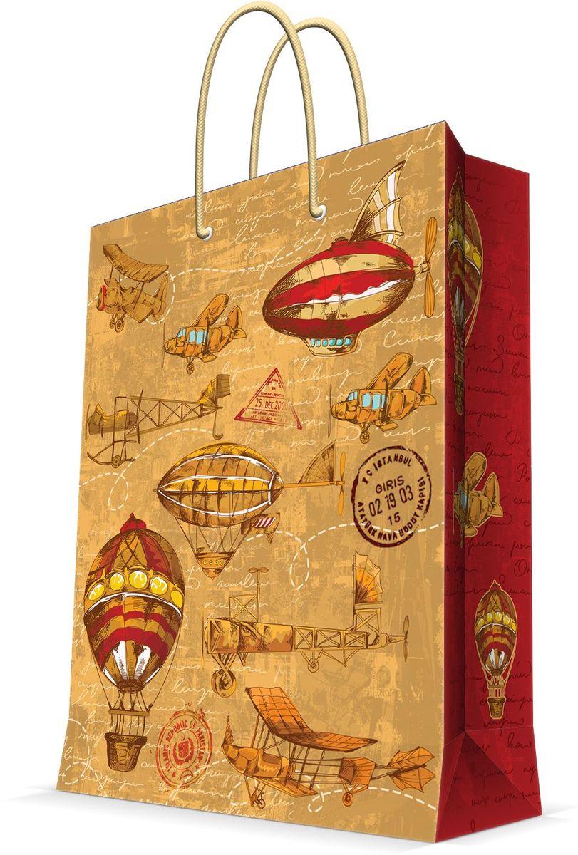Пакет подарочный Magic Home Самолеты и дирижабли, 11 х 13,7 х 6,2 см44167Подарочный пакет Magic Home, изготовленный из плотной бумаги, станет незаменимым дополнением к выбранному подарку. Дно изделия укреплено картоном, который позволяет сохранить форму пакета и исключает возможность деформации дна под тяжестью подарка. Пакет выполнен с глянцевой ламинацией, что придает ему прочность, а изображению - яркость и насыщенность цветов. Для удобной переноски имеются две ручки в виде шнурков.Подарок, преподнесенный в оригинальной упаковке, всегда будет самым эффектным и запоминающимся. Окружите близких людей вниманием и заботой, вручив презент в нарядном, праздничном оформлении.