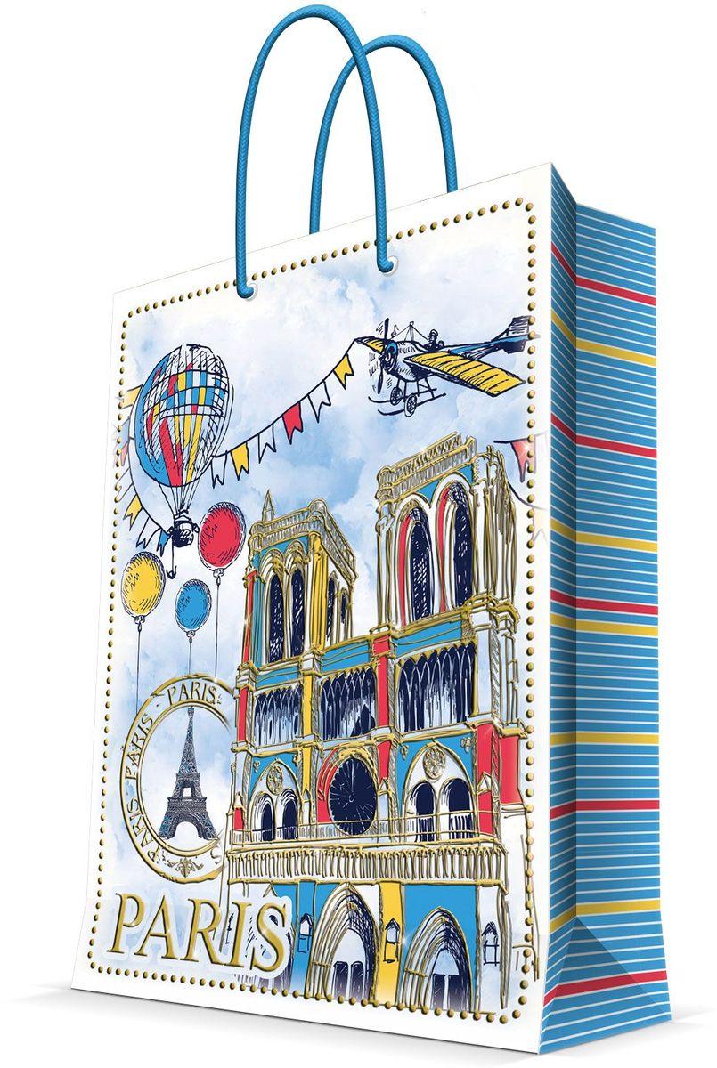 Пакет подарочный Magic Home Нотр-Дам, 17,8 х 22,9 х 9,8 см44217Бумажный подарочный пакет Magic Home Райский сад, изготовленный из плотной бумаги, станет незаменимым дополнением к выбранному подарку. Дно изделия укреплено картоном, который позволяет сохранить форму пакета и исключает возможность деформации дна под тяжестью подарка. Пакет выполнен с ламинацией, что придает ему прочность, а изображению - яркость и насыщенность цветов. Для удобной переноски имеются две ручки в виде шнурков. Подарок, преподнесенный в оригинальной упаковке, всегда будет самым эффектным и запоминающимся. Окружите близких людей вниманием и заботой, вручив презент в нарядном, праздничном оформлении.Плотность бумаги: 140 г/м2.