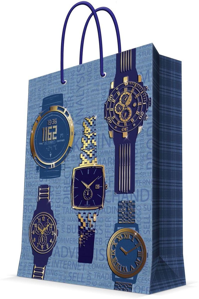 Пакет подарочный Magic Home Мужские часы, 26 х 32,4 х 12,7 см44220Подарочный пакет Magic Home, изготовленный из плотной бумаги, станет незаменимым дополнением к выбранному подарку. Дно изделия укреплено картоном, который позволяет сохранить форму пакета и исключает возможность деформации дна под тяжестью подарка. Пакет выполнен с глянцевой ламинацией, что придает ему прочность, а изображению - яркость и насыщенность цветов. Для удобной переноски имеются две ручки в виде шнурков.Подарок, преподнесенный в оригинальной упаковке, всегда будет самым эффектным и запоминающимся. Окружите близких людей вниманием и заботой, вручив презент в нарядном, праздничном оформлении.Плотность бумаги: 140 г/м2.