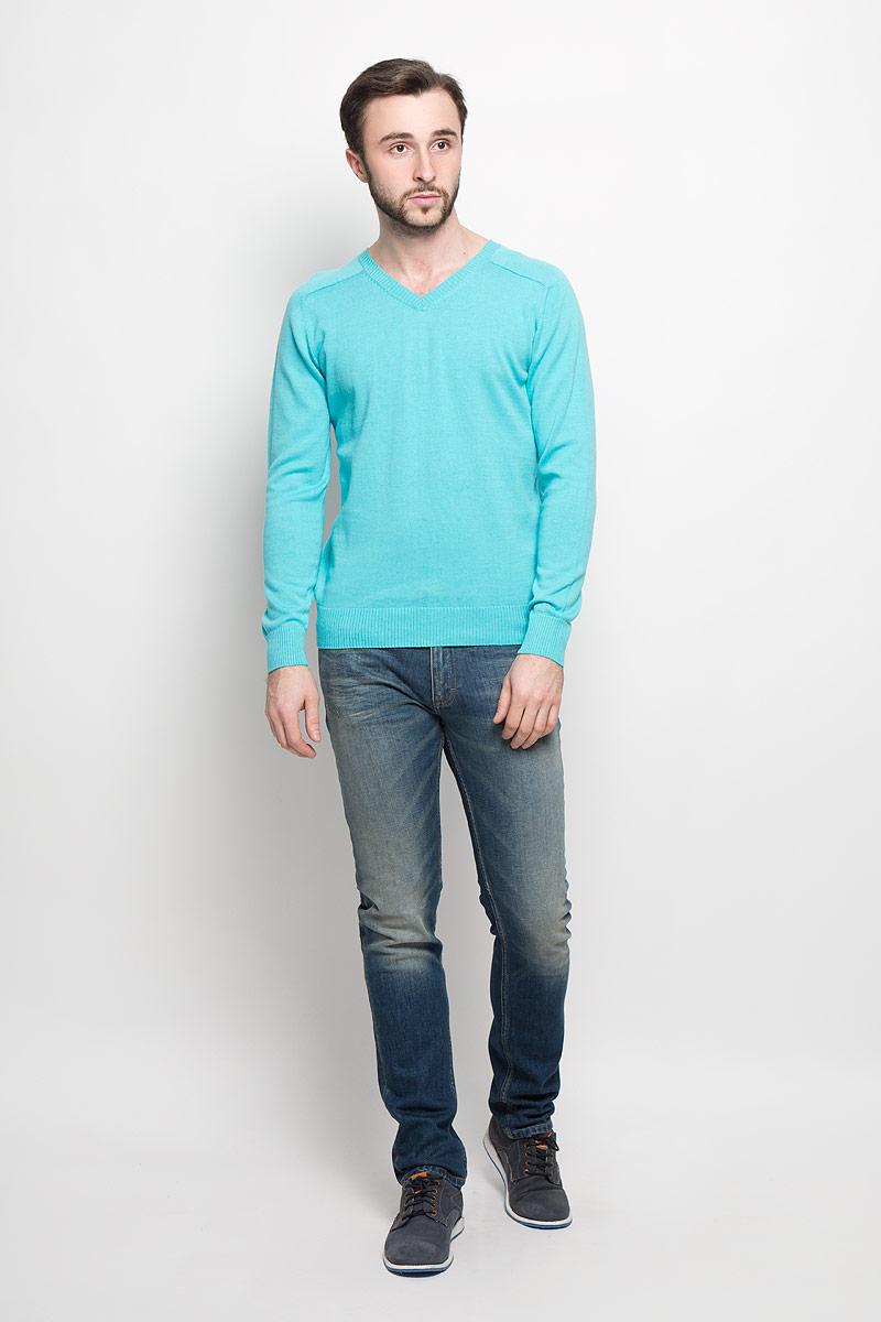 Джемпер мужской Aussie, цвет: бирюзовый. А40021. Размер XL (54) шампунь aussie