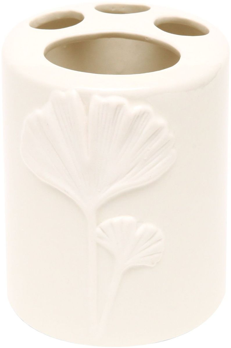 Стакан для зубных щеток Proffi Home Лепесток, цвет: белый, 380 мл. PH6504 автомобильный аксессуар proffi ph8723