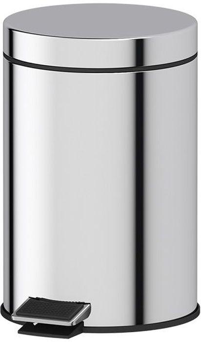 Ведро Defesto Pro,с педалью, цвет: серебристый, 3 л. DEF 003115547Удобное ведро для мусора Defesto Pro, с хромированной поверхностью и зеркальным блеском, с легкостью впишется в любой интерьер. Надежная система подъема крышки прослужит долго. Наличие педали обеспечивает удобство использования. Объем: 3 л.