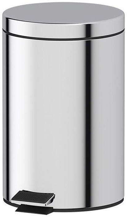 Ведро для мусора Defesto, с педалью, 12 лЧС 2.3_фиолетовыйВедро для мусора Defesto изготовлено из нержавеющей стали с зеркальной полировкой. Ведро оснащено крышкой, которая открывается с помощью нижней педали. Внутренняя пластиковая корзина легко достается и моется. Такая модель прекрасно подойдет для уборки или хранения мусора. Диаметр корзины: 23,5 см.