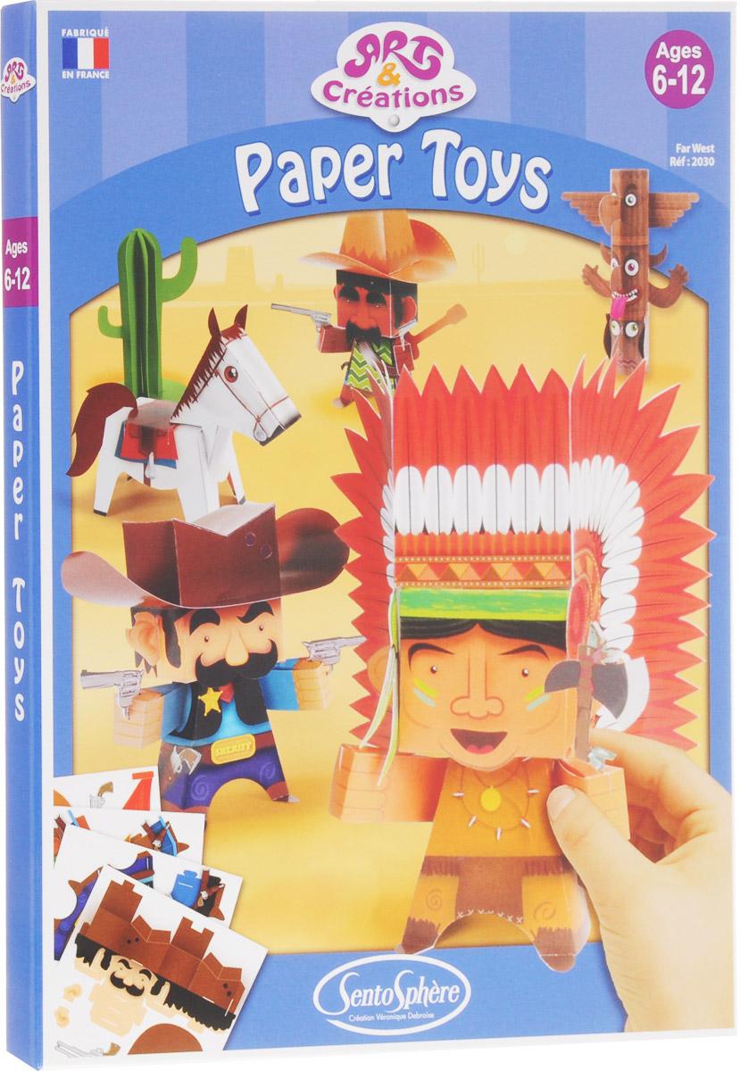 SentoSphere Набор для изготовления игрушек Вестерн наборы для творчества 4м фигурки из формочки принцесса 00 03528