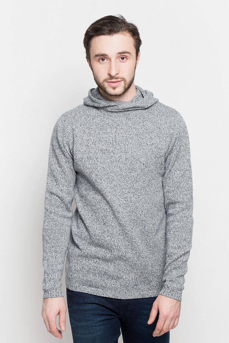 Худи мужское Broadway Pippin, цвет: серый, белый. 20100405_833. Размер XL (52) пуловеры broadway пуловер