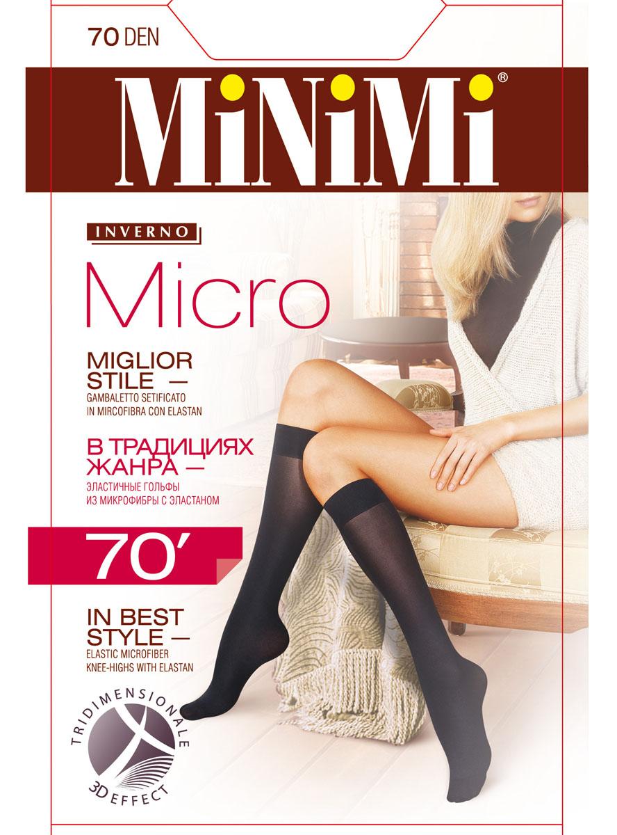 Гольфы женские Minimi Micro 70, цвет: Nero (черный). SNL-176942. Размер универсальный