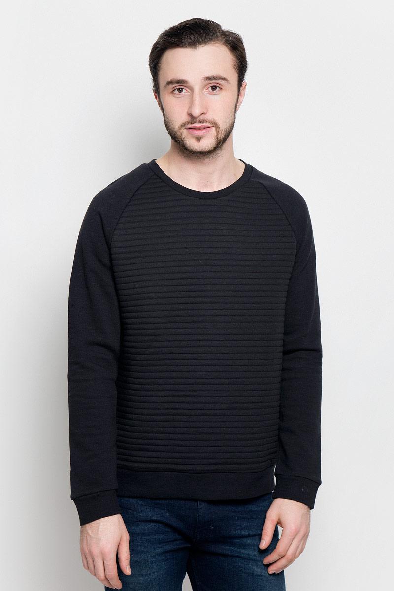 Свитшот мужской Broadway Praktik, цвет: черный. 20100393_884. Размер L (50) пуловеры broadway пуловер