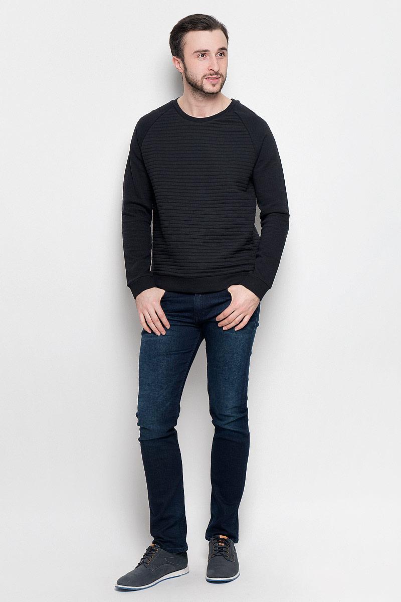 Свитшот мужской Broadway Praktik, цвет: черный. 20100393_884. Размер XXL (54) куртка мужская broadway noam цвет черный 20100303 размер xxl 54