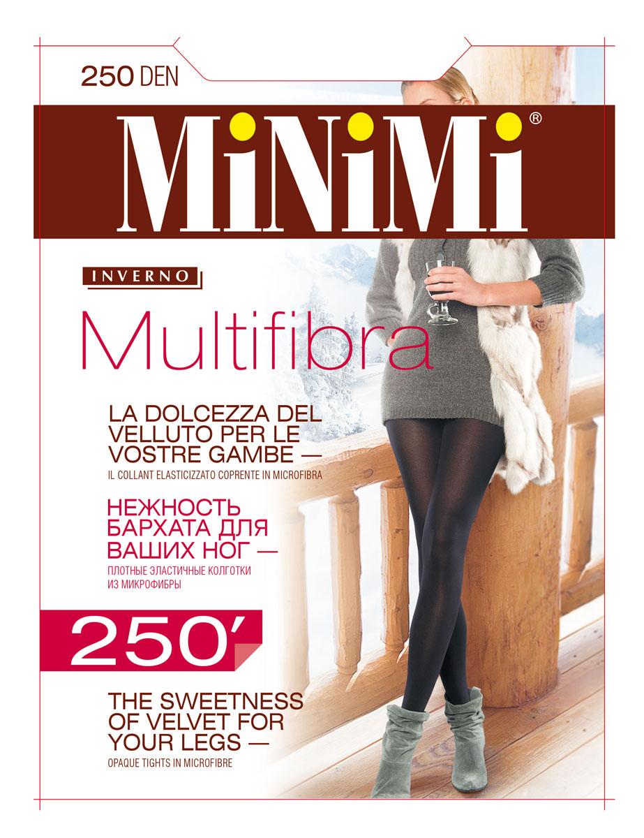 Колготки женские Minimi Multifibra 250, цвет: Nero (черный). SNL-336838. Размер 5 (50/52)
