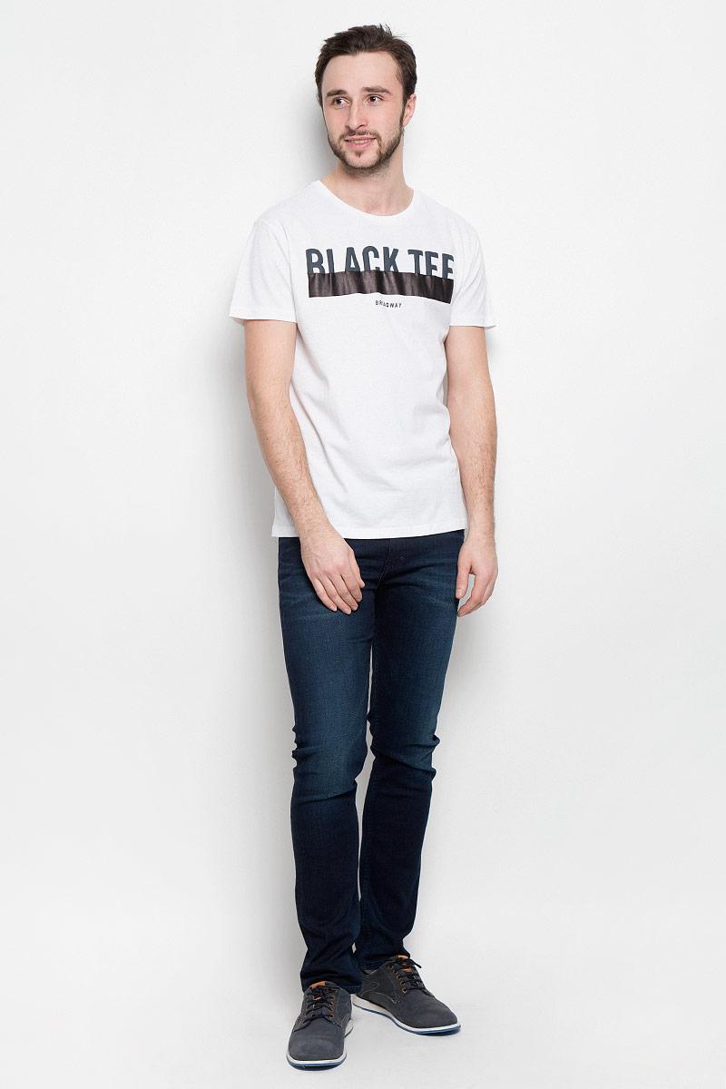Футболка мужская Broadway Pietro, цвет: белый. 20100359_00A. Размер L (50) пуловеры broadway пуловер