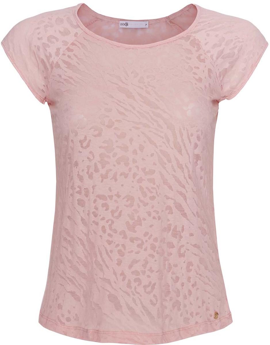 Блузка женская oodji Collection, цвет: светло-розовый. 24707002-1/45533/4000A. Размер L (48) блузка miamoda klingel цвет розовый белый