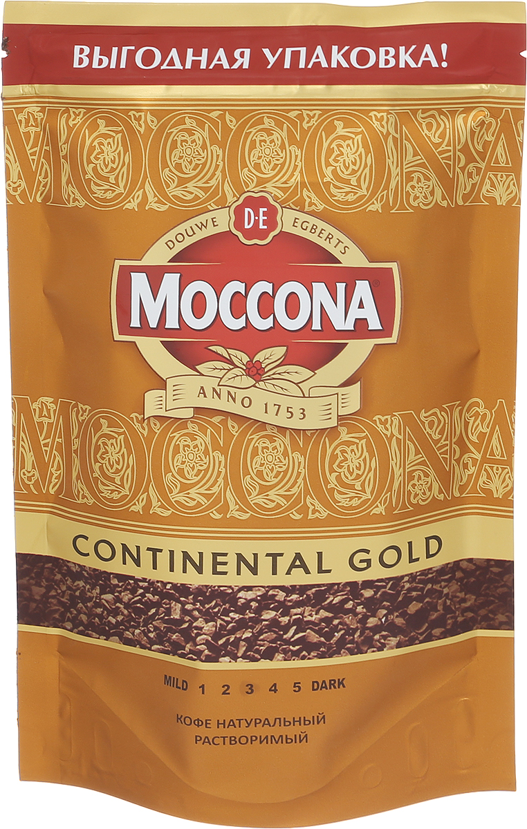 Фото Moccona Continental Gold кофе растворимый, 140 г (пакет)