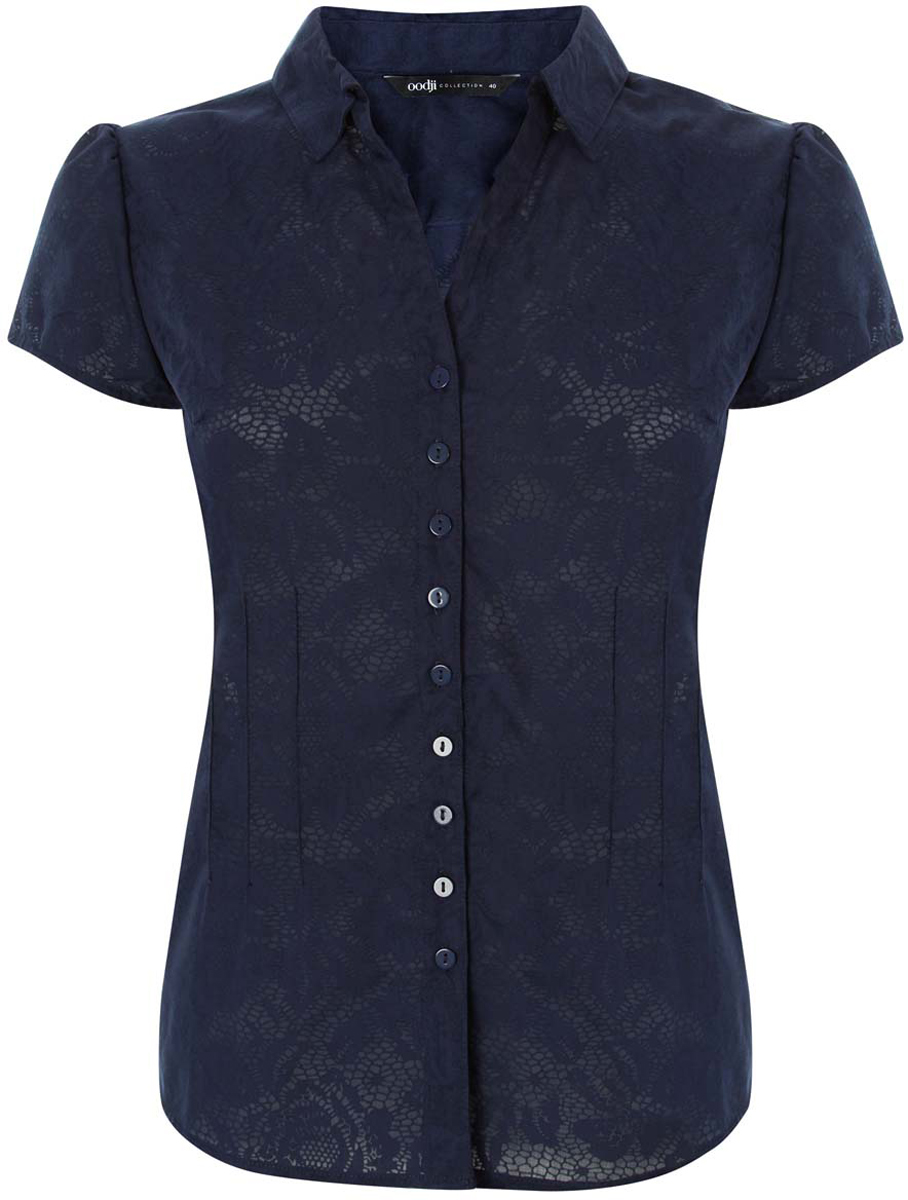 Блузка женская oodji Collection, цвет: темно-синий. 21407022-10/26528/7900N. Размер 36-170 (42-170) аксессуар три кита колокольчик толстостенный