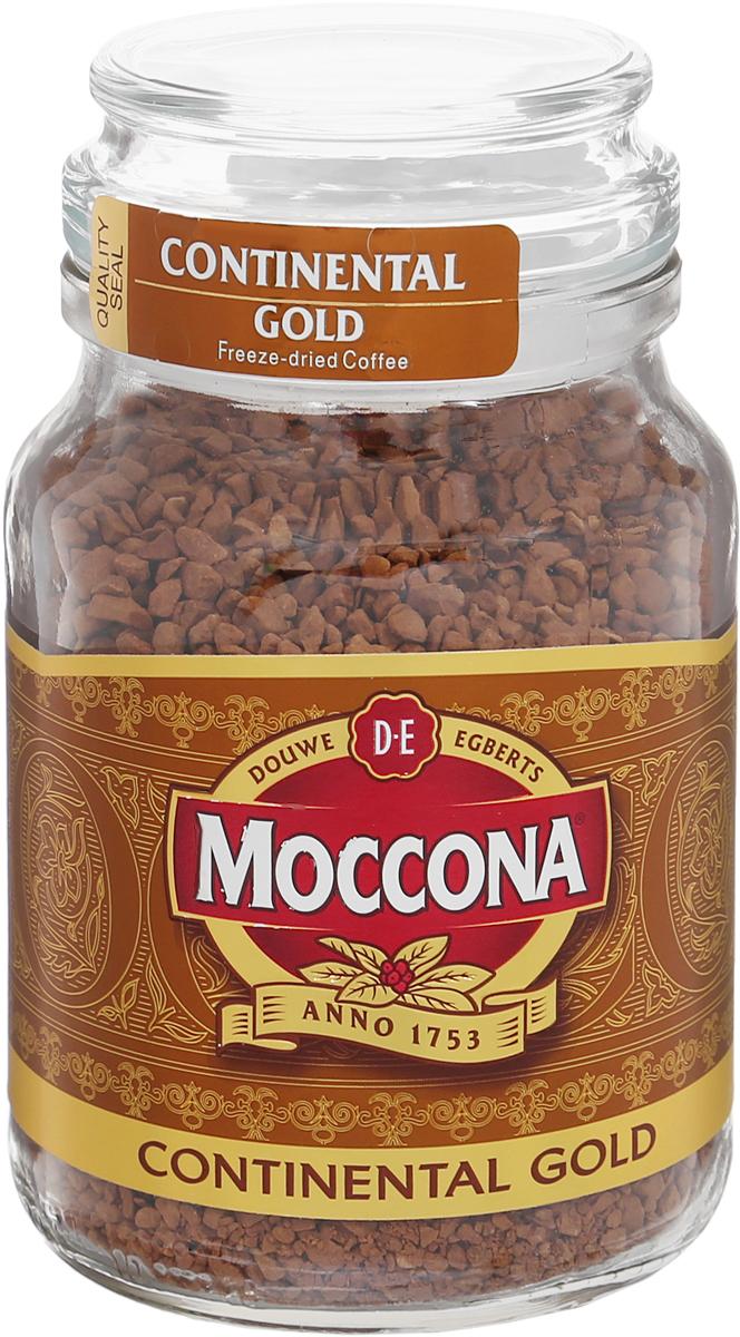 Фото - Moccona Continental Gold кофе растворимый, 95 г (стеклянная банка) jardin kenya kilimanjaro растворимый кофе 95 г стеклянная банка