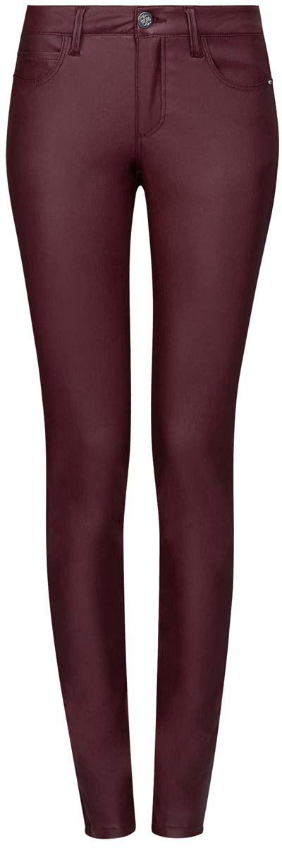 Джинсы женские oodji Denim, цвет: бордовый. 12103143/43334/4900N. Размер 25-30 (40-30)12103143/43334/4900NМодные женские джинсы под кожу oodji Denim выполнены из вискозы с добавлением полиамида и эластана, что обеспечивает комфортную посадку и идеальное облегание. Джинсы модели скинни имеют стандартную посадку. Застегиваются на пуговицу в поясе и ширинку на застежке-молнии, имеются шлевки для ремня. Джинсы имеют классический пятикарманный крой: спереди расположены два втачных кармана и один небольшой накладной карман, а сзади - два накладных кармана. Модель выполнена в однотонной расцветке.