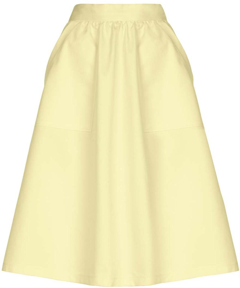 Юбка oodji Ultra, цвет: светло-желтый. 11600420/45374/5000N. Размер 36-170 (42-170) пуловеры oodji пуловер
