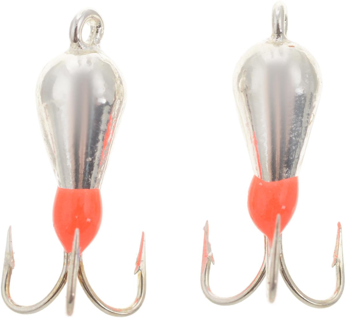 Чертик вольфрамовый Finnex, цвет: серебристый, оранжевый, 0,56 г, 2 штT2AG+Вольфрамовый чертик Finnex - одна из самых популярных приманок для ловли леща, плотвы и другой белой рыбы. Особенно хорошо работает приманка на всевозможных водохранилищах. Не пропустит ее и другая рыба, в том числе окунь, судак и щука.