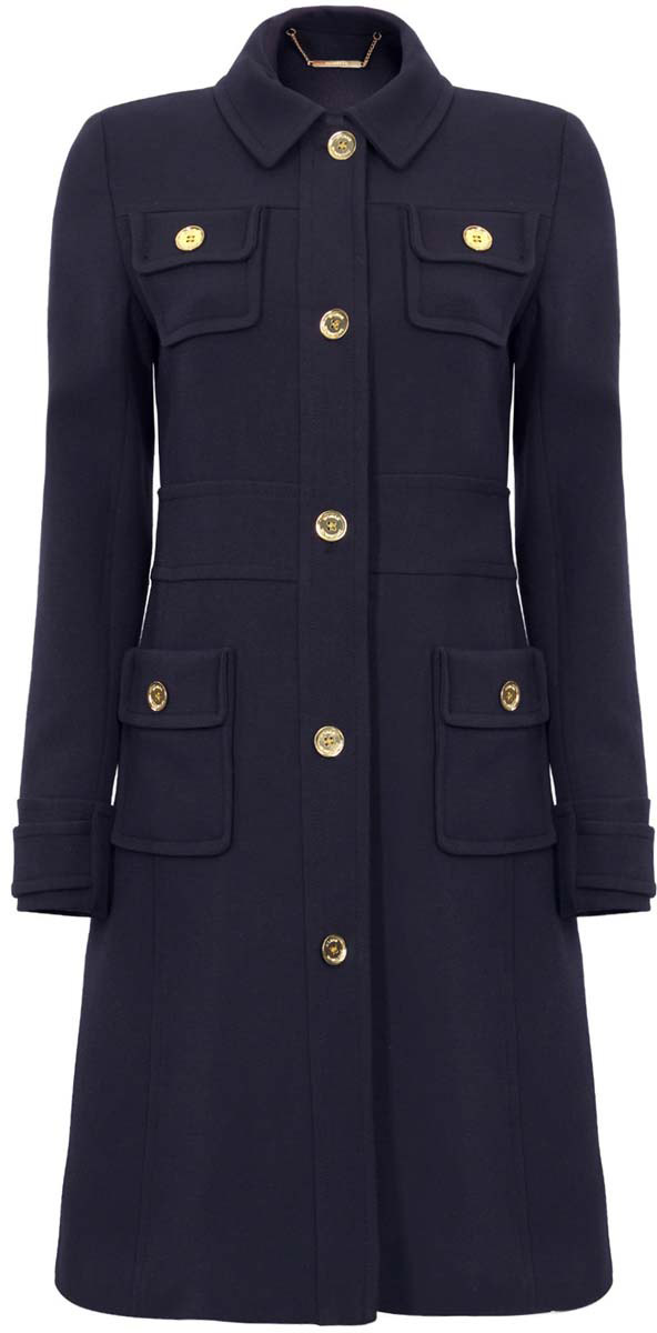 Пальто женское oodji Ultra, цвет: темно-синий. 10104001/45200/7900N. Размер 36-170 (42-170)10104001/45200/7900NСтильное женское пальто oodji Ultra, выполненное из полиэстера с добавлением вискозы и эластана, отлично подойдет для прохладной погоды. Подкладка изготовлена из гладкой ткани. Модель с длинными рукавами и отложным воротником застегивается по всей длине на пуговицы. Спереди расположены четыре накладных кармана. Плечики пальто снабжены поролоновыми вставками. На талии имеются шлевки для ремня или пояса.