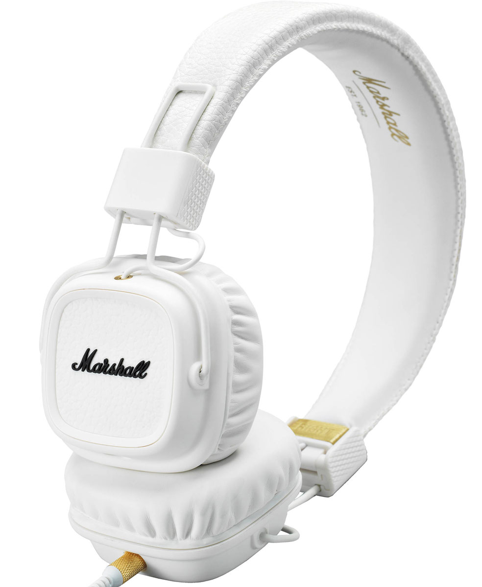 Marshall Major II Bluetooth, White наушники накладные наушники marshall major ii brown