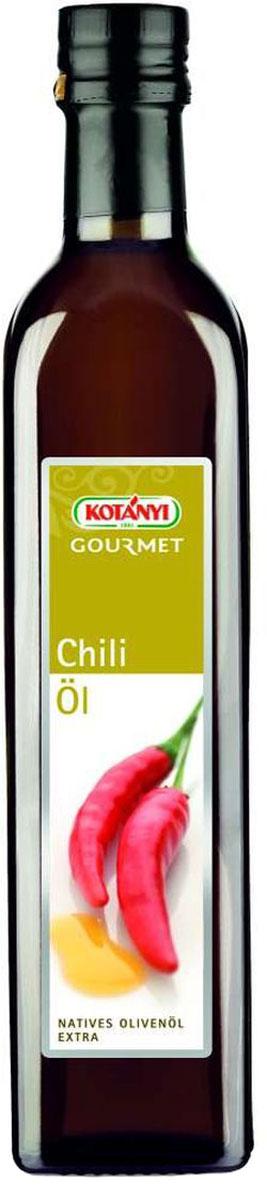 Kotanyi Масло оливковое с экстрактом чили и паприки, 500 мл611401Нерафинированное оливковое масло Kotanyi с экстрактом чили и паприки придает каждому блюду легкий жгучий вкус. Тонкий аромат натурального оливкового масла получил в этом сорте дополнительный акцент - чили.
