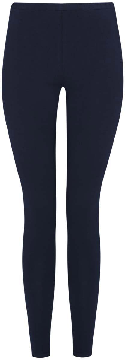 Леггинсы oodji Ultra, цвет: темно-синий. 18700028-7B/46159/7900N. Размер S (44) джинсы женские oodji ultra цвет светло синий 12104043 7b 46261 7501w размер 25 30 40 30