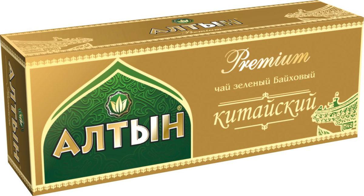 Алтын Premium Китайский зеленый чай в пакетиках, 25 шт чай зеленый akbar green tea китайский пакетированный