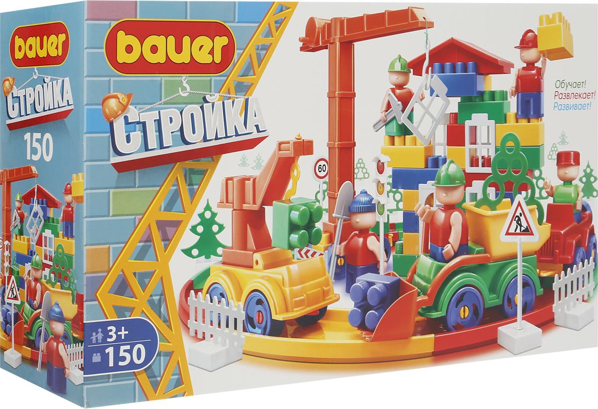 Bauer Конструктор Стройка 202 набор для песка кроха с ведром и ситом bauer