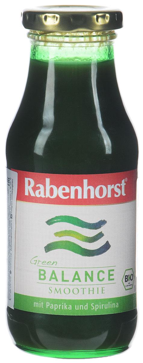 Rabenhorst Баланс смузи с проростками ячменя и спирулиной, БИО, 240 мл2997Два суперфуда, сладкий зелёный перец и киви – присоединяйтесь к зелёным. Тёмное стекло - защита от света. Баланс - одна из пяти порций овощей на день.Уважаемые клиенты! Обращаем ваше внимание, что полный перечень состава продукта представлен на дополнительном изображении.