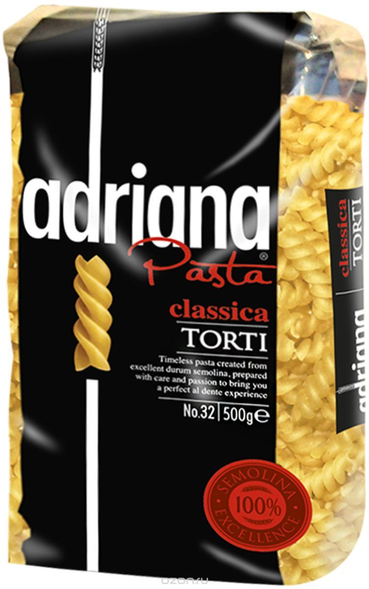 Adriana Pasta Classica Torti завитушки, 500 г pasta zara перо гладкое макароны 500 г