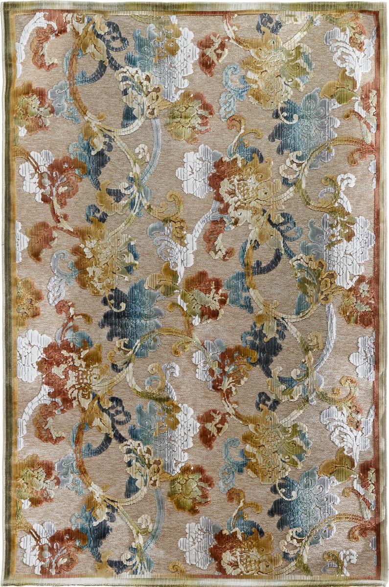 """Коврик Oriental Weavers """"Симфония"""" выполнен из текстиля, полиэстера, полипропилена и латекса. Изделие долго прослужит в вашем доме, добавляя тепло и уют, а также внесет неповторимый колорит в интерьер любой комнаты. Такой коврик отлично подойдет к вашему интерьеру."""