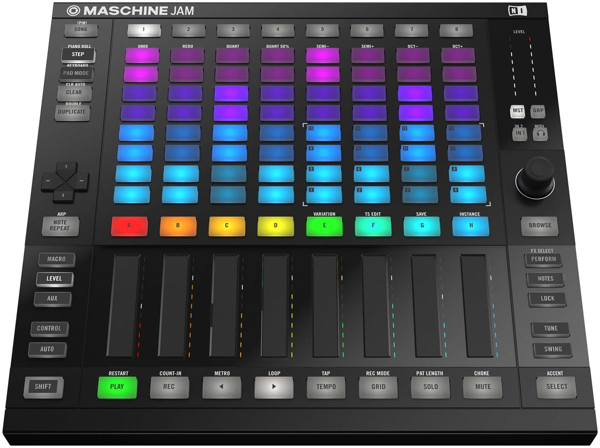 кейс native instruments traktor kontrol s4 Native Instruments Maschine Jam, Black MIDI-контроллер