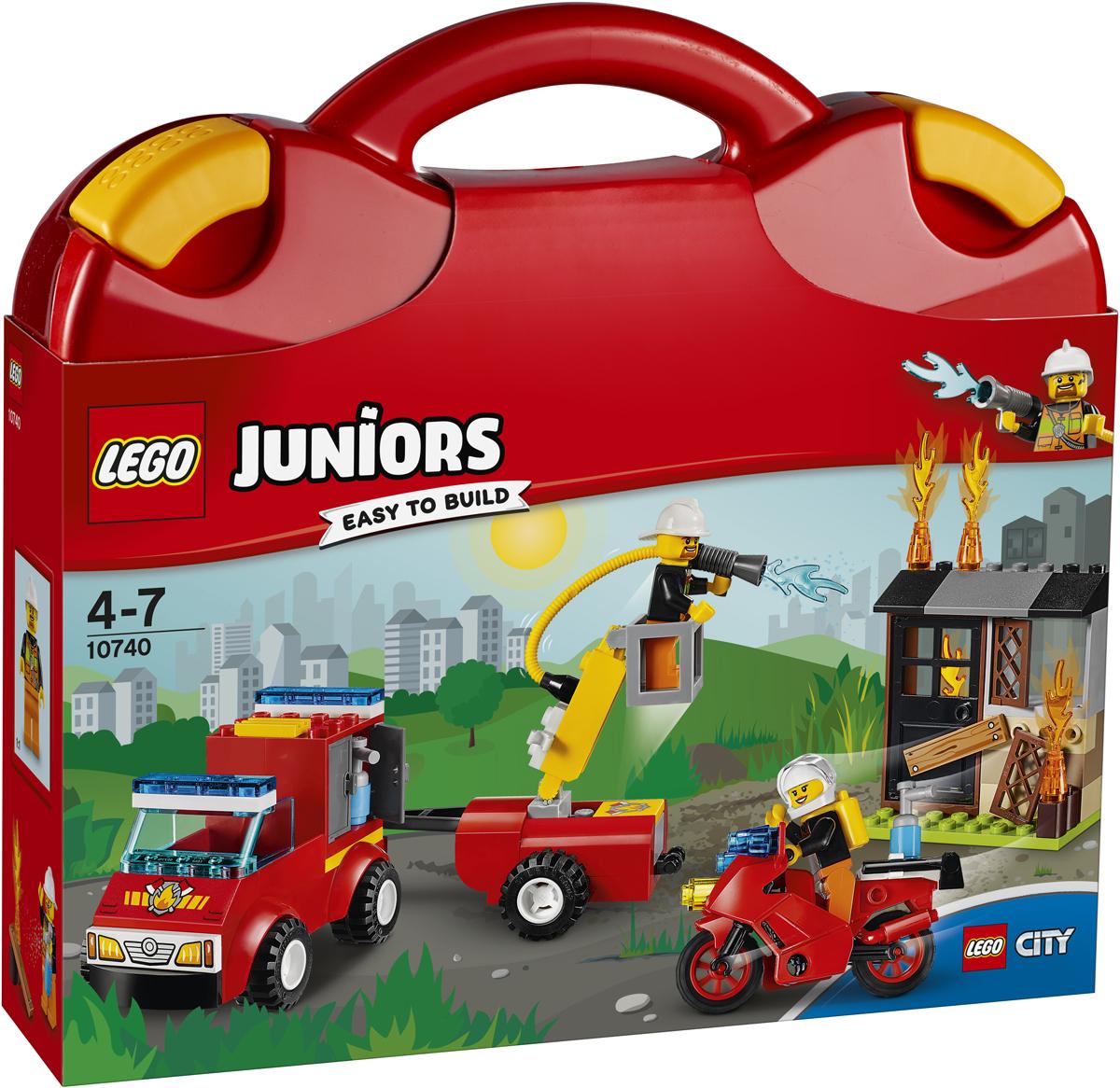 LEGO Juniors Конструктор Чемоданчик Пожарная команда 10740 конструктор lego juniors ветеринарная клиника мии 10728
